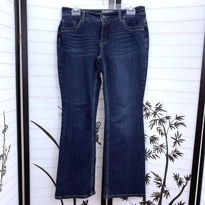 Chicos So Slimming Jeans Sz 0 Sm 4 Short Embellish